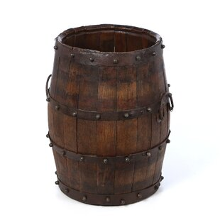 Great choice Ira Studded Barrel with Iron Handles Bucket By August Grove