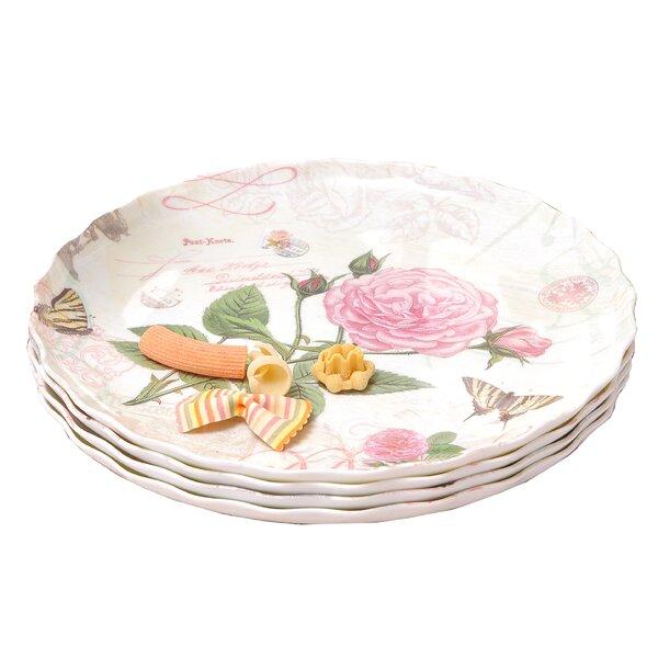 Rose Melamine Ruffle Serving Platter (Set of 4) by Shall Housewares International