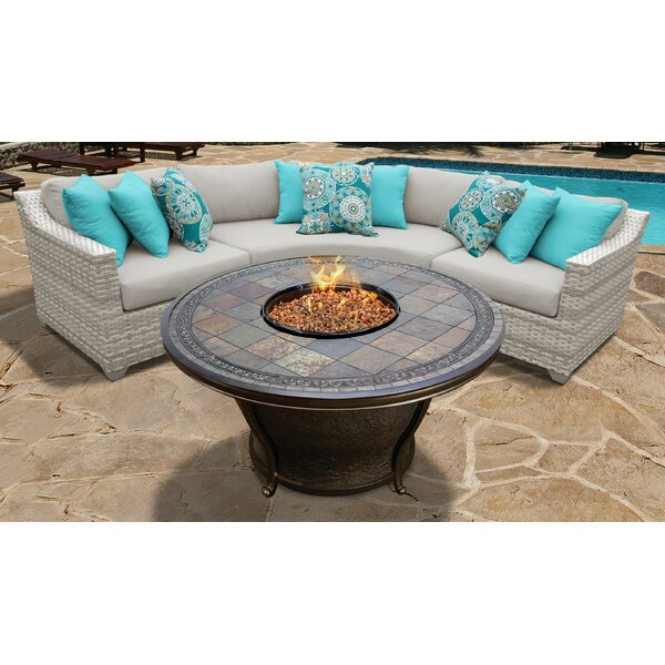 Waterbury 4 Piece Sectional Seating Group with Cushions by Sol 72 Outdoor