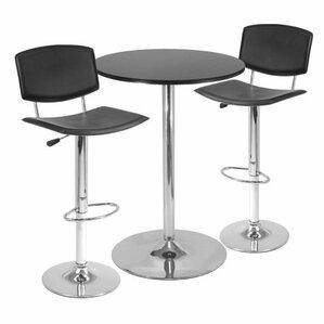 Spectrum 3 Piece Pub Table Set by Luxury Home