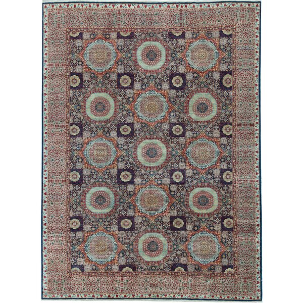 One-of-a-Kind Hand-Knotted Brown 9'10 x 13'7 Wool Area Rug