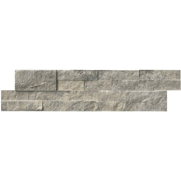 6 x 24 Travertine Splitface Tile in Silver by MSI