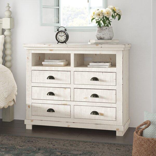 Castagnier 6 Drawer Standard Dresser/Chest by Lark Manor