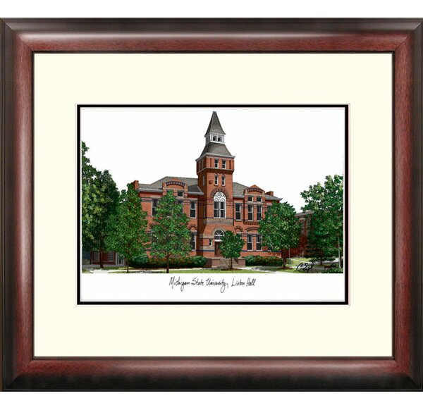 NCAA Michigan State Linton Hall University Framed Photographic Print by Campus Images