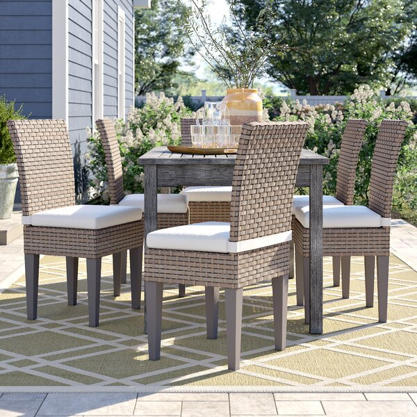 Rockport Patio Dining Chair with Cushion (Set of 6) by Sol 72 Outdoor