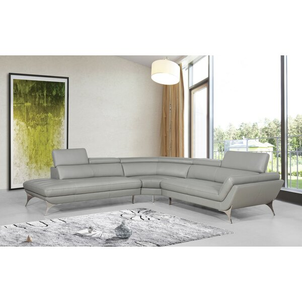 Collison Leather Sectional by Orren Ellis