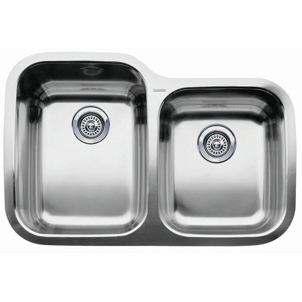 Supreme 31.31 L x 20.88 W Bowl Undermount Kitchen Sink by Blanco