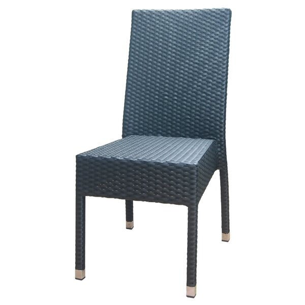 Outdoor Rattan Side Patio Dining Chair by DHC Furniture