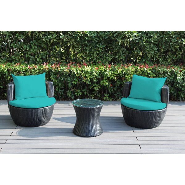 Elkport 2 Piece Rattan Set with Cushions by Ebern Designs Ebern Designs