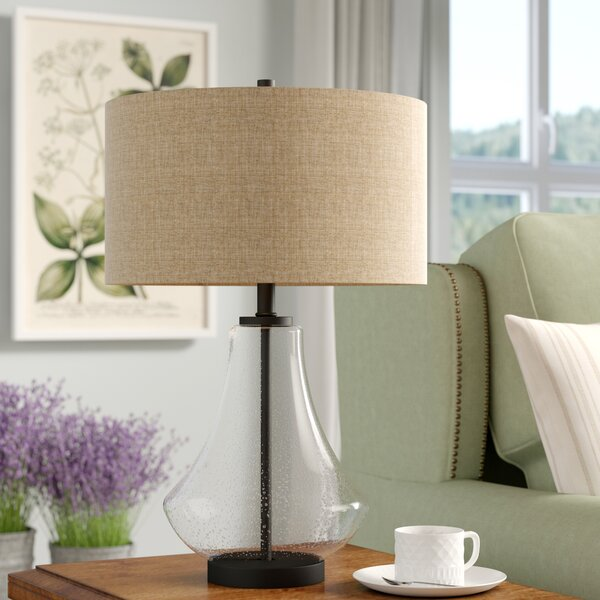 Proto Seeded Glass 23 Table Lamp by Gracie Oaks