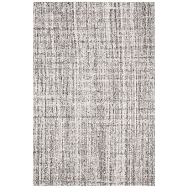 Fountain Abstract Hand-Tufted Wool Gray/Black Area Rug by Williston Forge