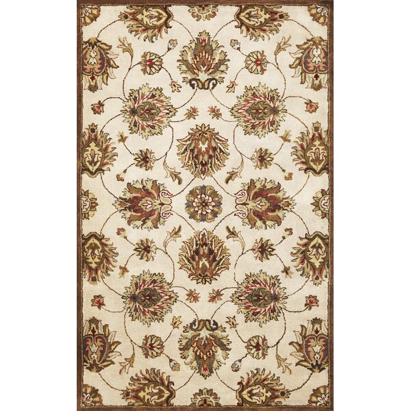 Blarwood Ivory Allover Kashan Rug by Charlton Home