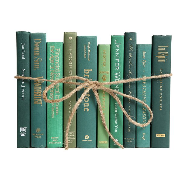Authentic Decorative Books - By Color Modern Boxwood ColorPak (1 Linear Foot, 10-12 Books) by Booth & Williams