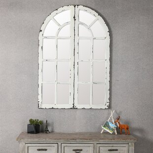 August Grove Hovis Window Panels Accent Mirror (Set of 2)