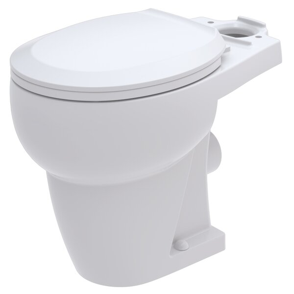 WaterSense Rear Outlet 1.28 GPF Round Toilet Bowl by Bathroom Anywhere