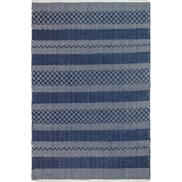 Aveline Hand-Woven Blue Indoor/Outdoor Area Rug by Bungalow Rose
