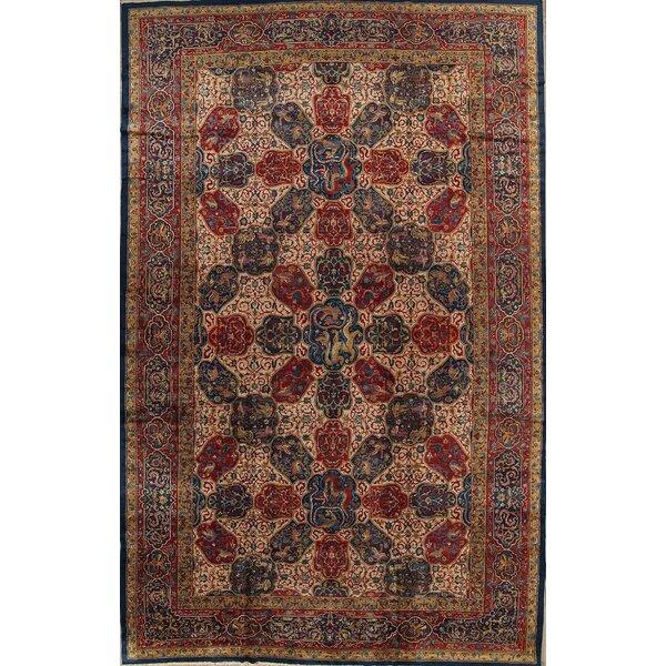 Blairview Agra Taj Mahal Oriental Hand-Knotted Wool Red/Burgundy Area Rug