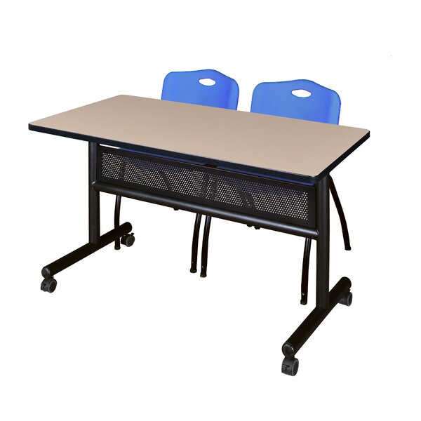 Vela Flip Top Mobile Training Table with Modesty Panel by Symple Stuff