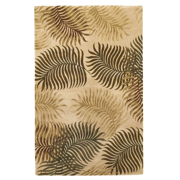 Delview Fern View Natural Plants Area Rug by Bay Isle Home