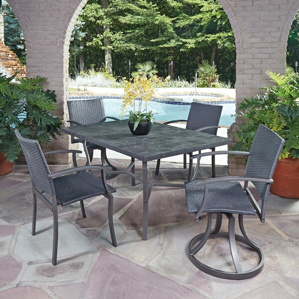 Stone Veneer 5 Piece Dining Set by Home Styles