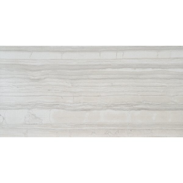Sophie White 12 X 24 Porcelain Wood look Tile in White by MSI