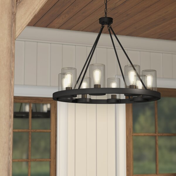 Mount Vernon 8-Light Outdoor Chandelier by Laurel