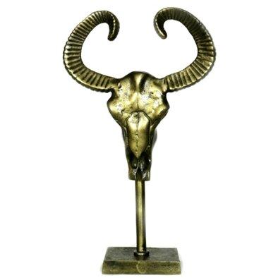 Gordon Rustic Table Top Buffalo Skull Figurine by Union Rustic
