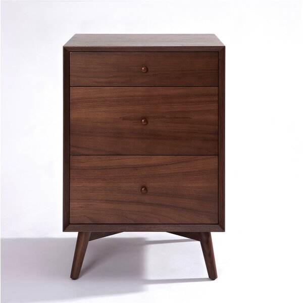 Dovercourt 3 Drawer Nightstand by Corrigan Studio