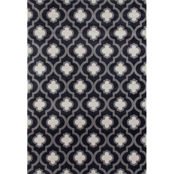 Elite Soft Dark/Gray Area Rug by World Rug Gallery