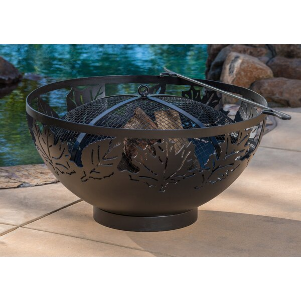 Autumn Leaves Steel Charcoal Fire Pit by Muskoka Firebowls
