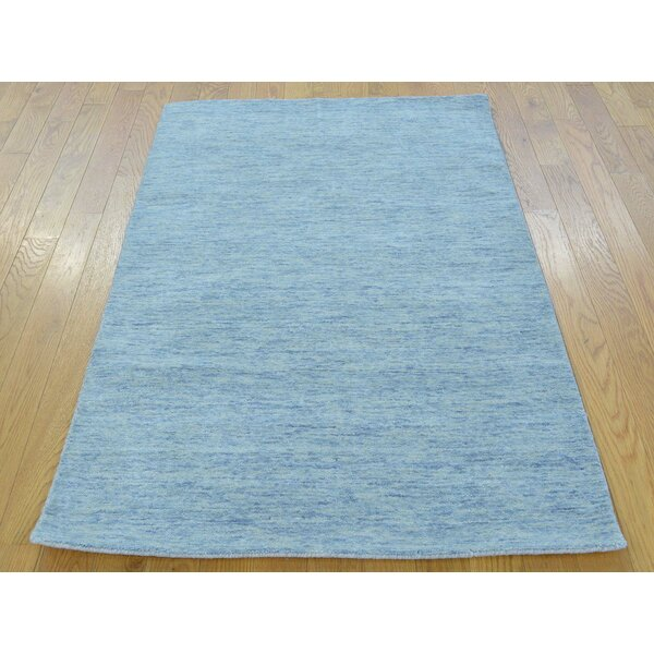 One-of-a-Kind Becker Hand-Knotted Blue Wool Area Rug by Isabelline