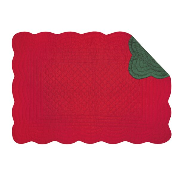 Reversible Quilt Scallop Placemat (Set of 6) by The Holiday Aisle