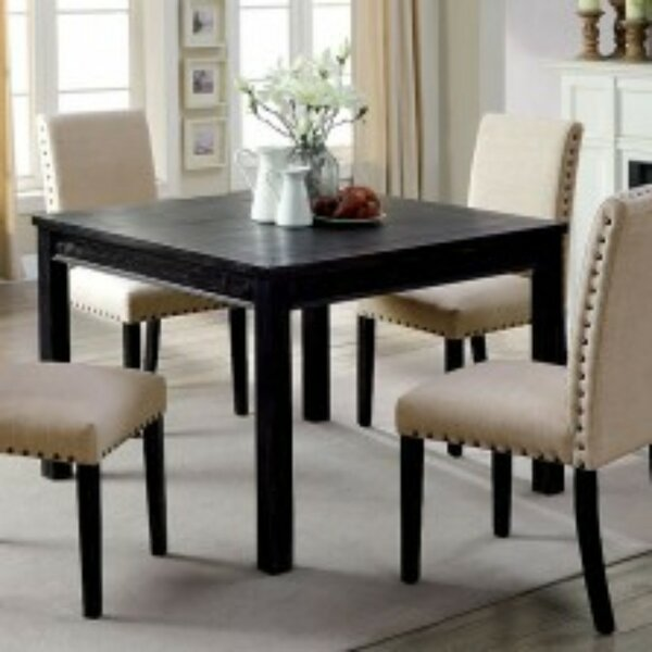 Pittard Rustic 5 Piece Solid Wood Dining Set by Charlton Home