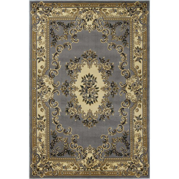 Barwin Aubusson Beige/Slate Blue Area Rug by Astoria Grand