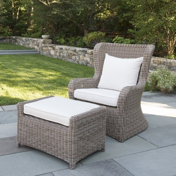 Sag Harbor Patio Chair with Sunbrella Cushions by Kingsley Bate