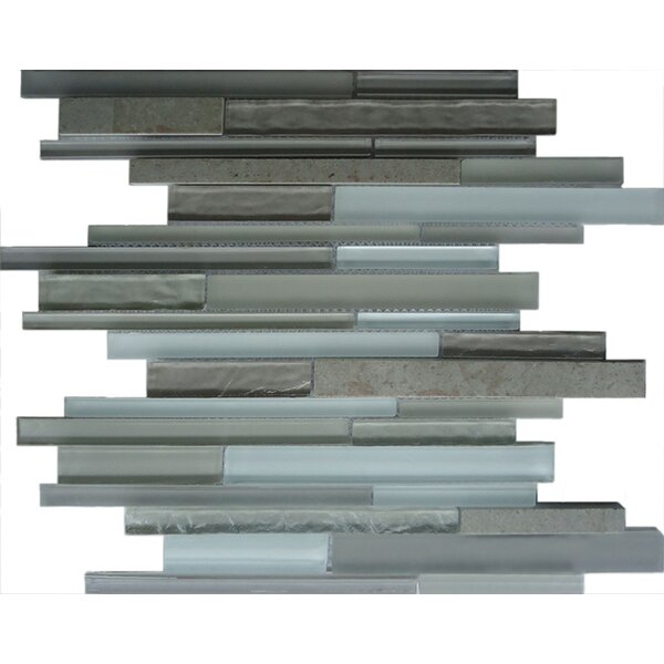 Random Sized Glass Mosaic Tile in Gray by Crystalcor USA