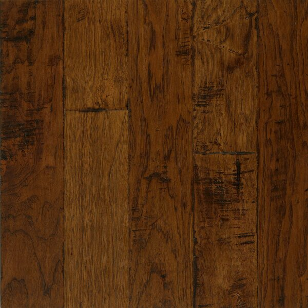 Frontier 5 Engineered Hickory Hardwood Flooring in Light Mocha by Armstrong Flooring