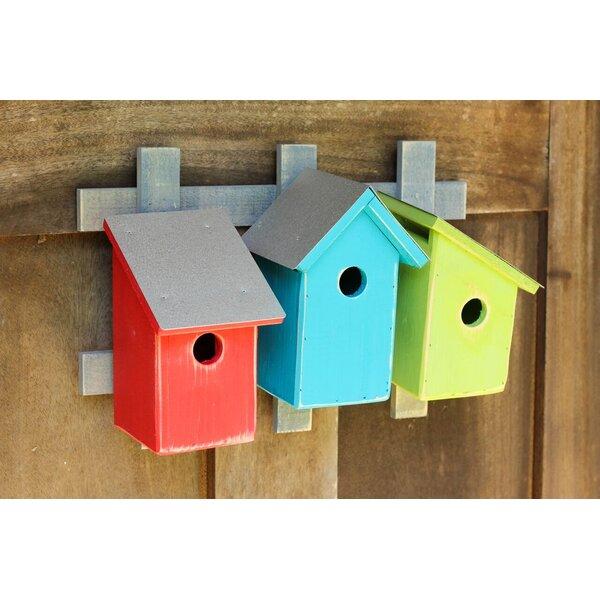 Trellis Trio 16 in x 11 in x 6 in Birdhouses by He