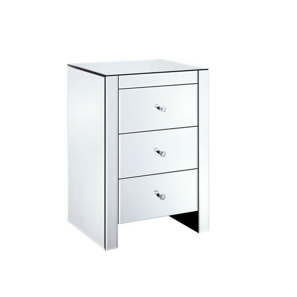 Salcedo 3 Drawer Nightstand by Everly Quinn