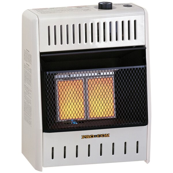 10,000 BTU Natural Gas/Propane Infrared Wall Mounted Heater By ProCom