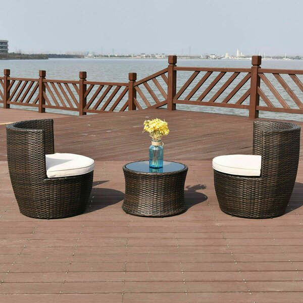 Hildulf 3 Piece Dining Set with Cushions