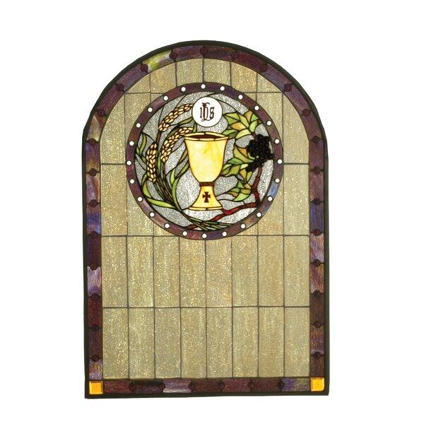 Victorian Sacrament Stained Glass Window by Meyda Tiffany