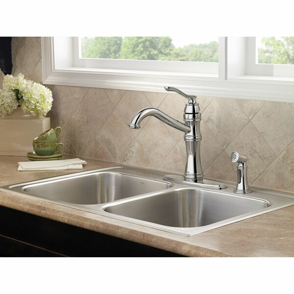 Belfield Single Handle Kitchen Faucet With Optional Side Spray And Duralock™ By Moen
