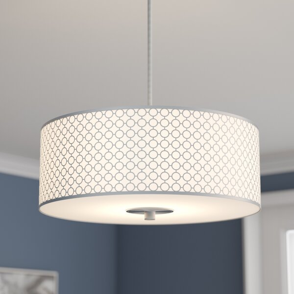 Fayme 3 - Light Shaded Drum Chandelier by Willa Arlo Interiors Willa Arlo Interiors