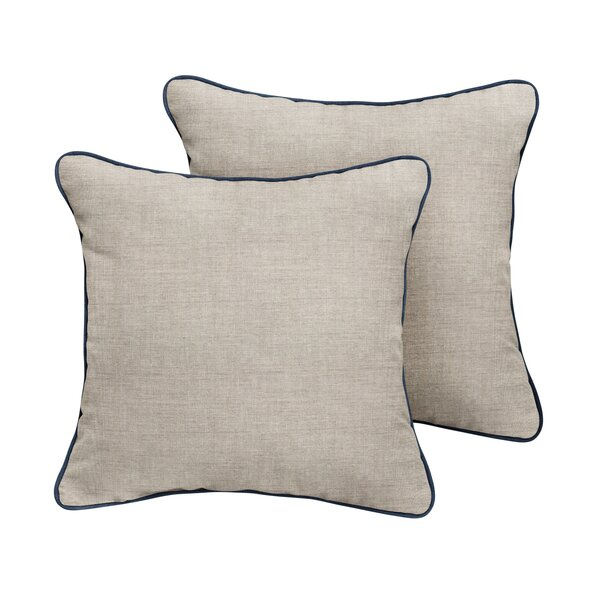 Palm City Sunbrella Cast Outdoor Throw Pillow (Set of 2) by Rosecliff Heights