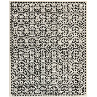 Shop for Fairburn Black/Ivory Area Rug By House of Hampton