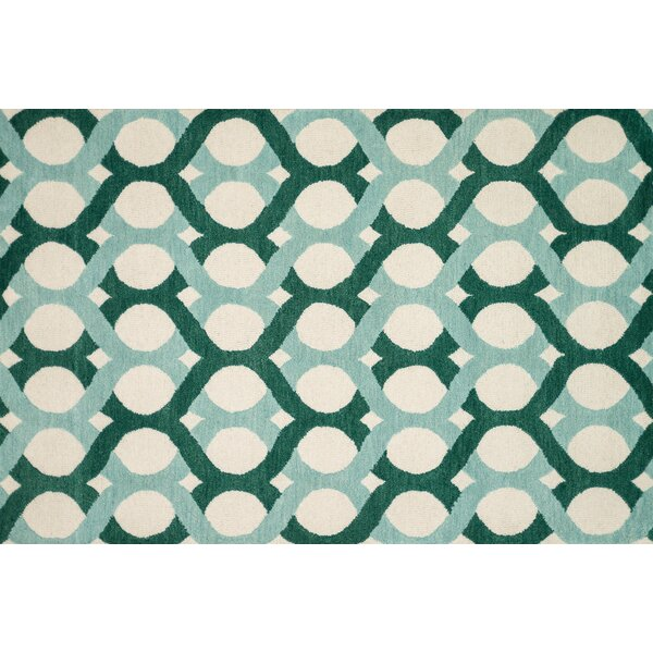 Maziarz Hand-Tufted Blue/Green Area Rug by Ivy Bronx