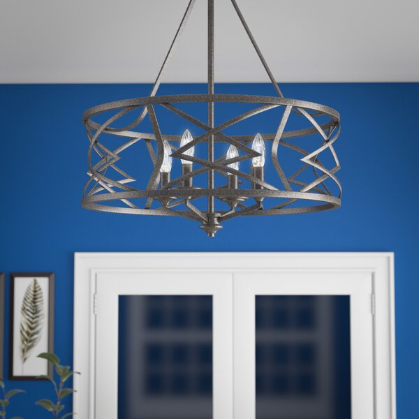 Rodden 4 - Light Lantern Drum Chandelier by World Menagerie World Menagerie