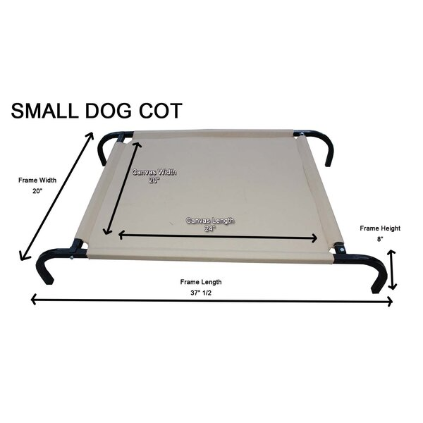Heavy-Duty Canvas Cot Dog Furniture Style by K9 Kennel