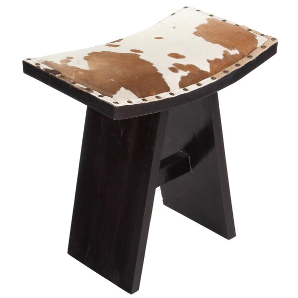 Asian Cow Hide Vanity Stool by PoliVaz